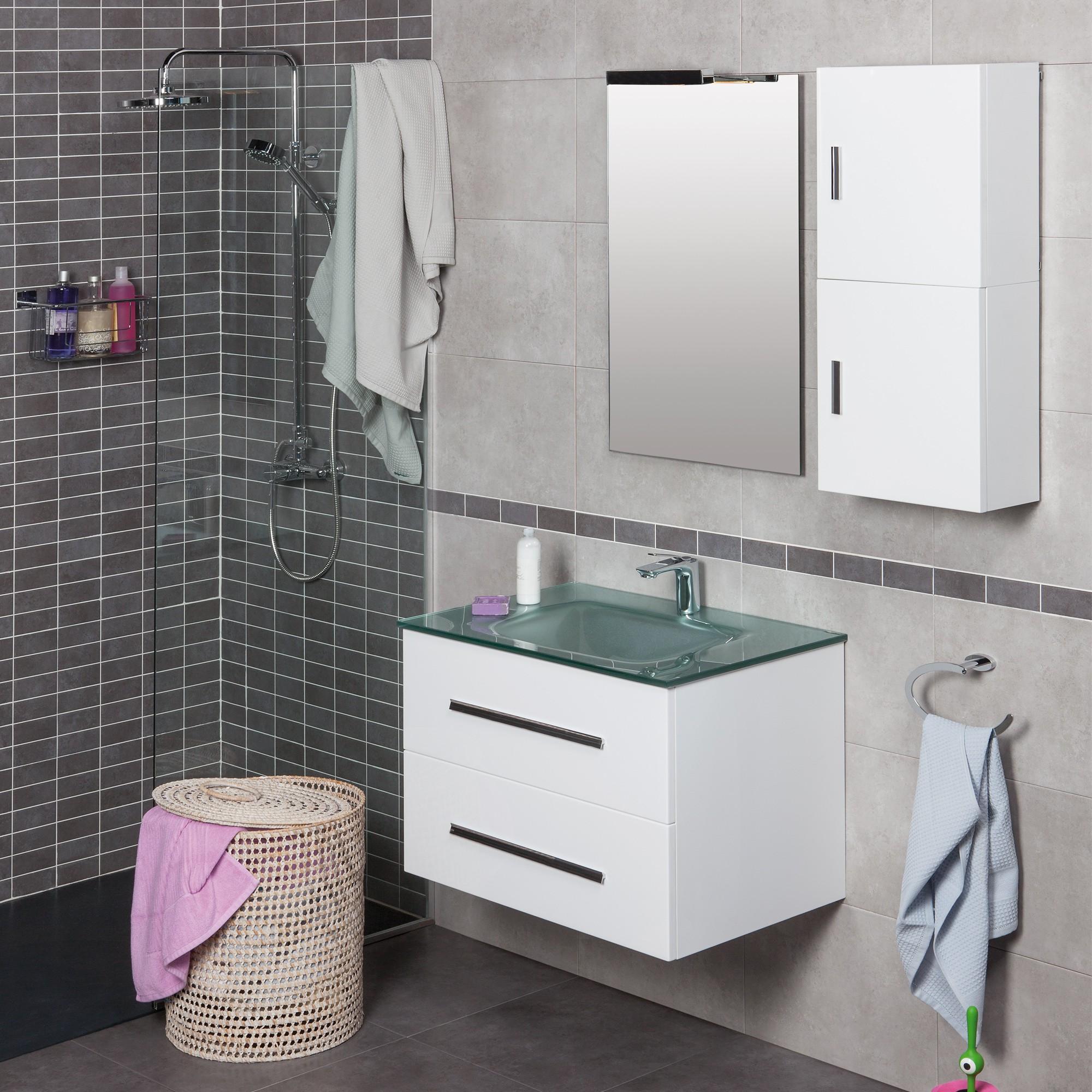 Mamparas Para Baño Vitrum:Conjunto de baño MAIL de 80cm en color blanco